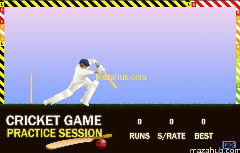 Cricket practice game