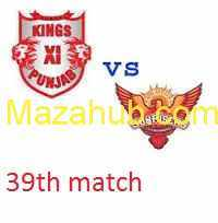 KXIP vs SRH prediction