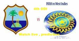 India vs West Indies 4th ODI